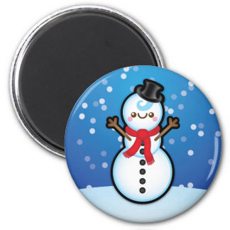 Cute Kawaii Snowman Christmas Decorative Magnet