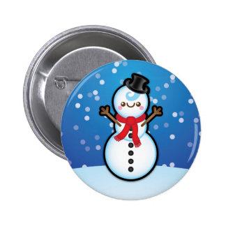 Cute Kawaii Snowman Christmas Pin Badge
