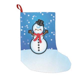 Cute Kawaii Snowman Christmas Present Stocking