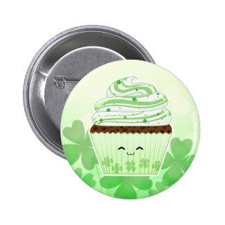 Cute kawaii St Patricks day cupcake 6 Cm Round Badge