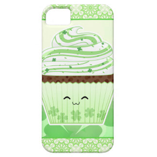 Cute kawaii St Patricks day cupcake Barely There iPhone 5 Case