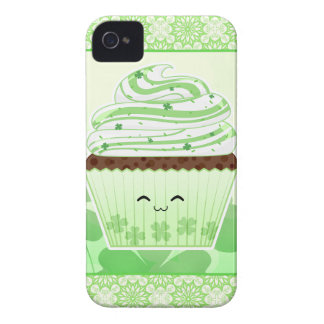 Cute kawaii St Patricks day cupcake iPhone 4 Case-Mate Cases
