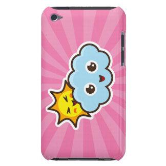 Cute kawaii sun and cloud pink iPod touch case