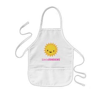 Cute kawaii sun cartoon character little sunshine kids' apron
