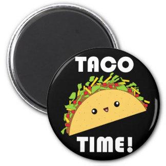 Cute kawaii Taco Time! button 6 Cm Round Magnet