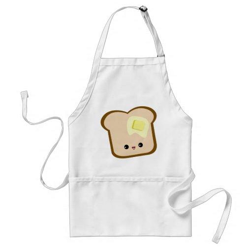 Cute kawaii toast and butter apron