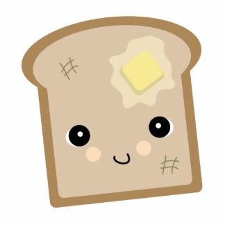 cute kawaii toast standing photo sculpture