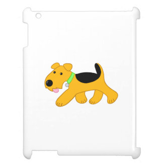 Cute Kawaii Trotting Airedale Dog iPad Case