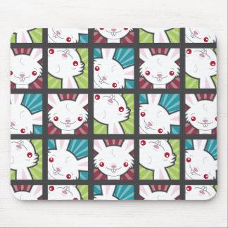 Cute Kawaii Vampire Bunny Rabbit Pattern Mouse Pad