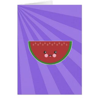 Cute Kawaii Watermelon Card