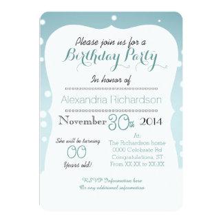 Cute Kawaii winter cupcake birthday party Card