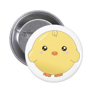 Cute kawaii yellow chick button