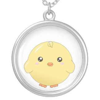 Cute kawaii yellow chick necklace