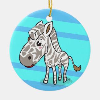Cute Kawaii Zebra ornament