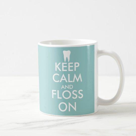Cute Keep Calm and floss on Mug for