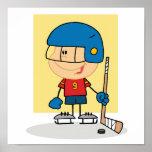 Cute Kid Hockey Player Poster