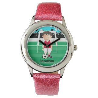 Cute kid soccer player wrist watches