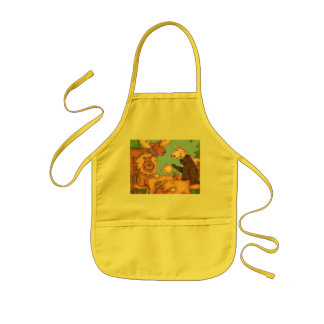 Cute Kids Apron 'Christmas Time Tea for Two'
