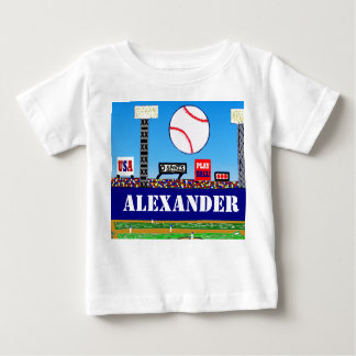 Cute Kids Baseball Personalized T-shirt B-day Gift