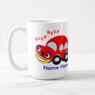 Cute Kids Cartoon Car Beep Beep Coffee Mugs