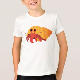 Cute Kids Cartoon Hermit Crab Tee