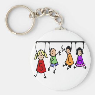 Cute Kids Cartoon Speech Therapist art Key Ring