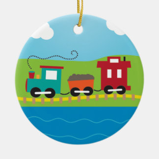 Cute Kid's Choo Choo Train Christmas Ornament