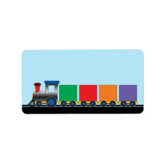 Cute Kid's Choo Choo Train Label