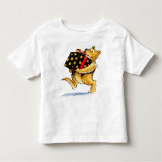 Cute Kid's Christmas Bear Toddler T-Shirt