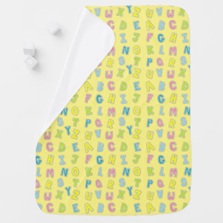 Cute Kids Colorful Alphabet Letters Patterned Baby Blanket