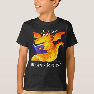Cute Kid's Custom Funny Dragons Love Me! T-Shirt