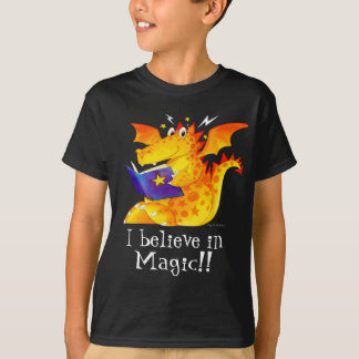 Cute Kid's Custom I Believe in Magic Dragon T-Shirt