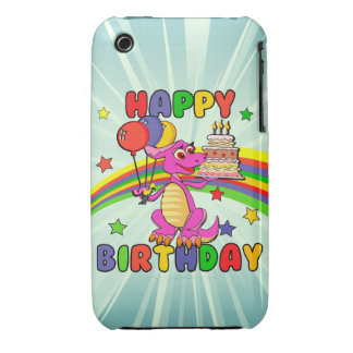Cute Kids dinosaur birthday iPhone 3 Case-Mate Case