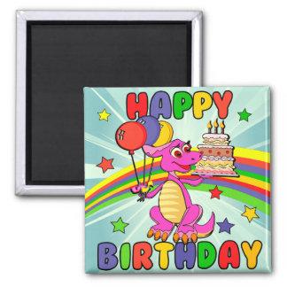 Cute Kids dinosaur birthday Fridge Magnet