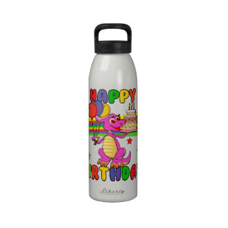 Cute Kids dinosaur birthday Water Bottles