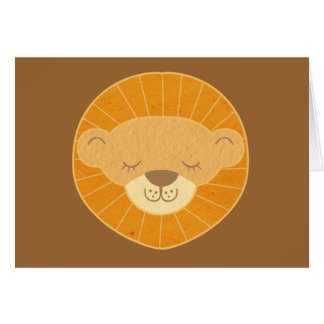 Cute Kids Lion Head Greeting Cards