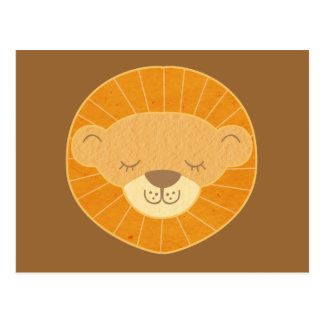 Cute Kids Lion Head Post Cards