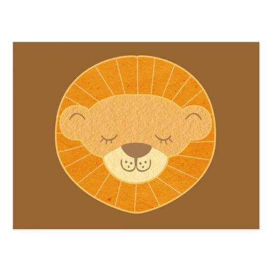 Cute Kids Lion Head Postcard