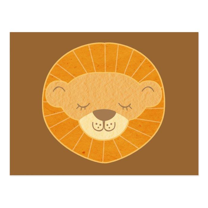 Cute Kids Lion Head Postcard