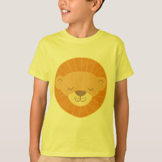 Cute Kids Lion Head T-Shirt