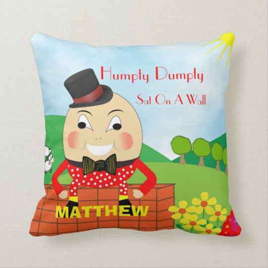 Cute Kids Nursery Rhyme Humpty Dumpty Personalised Cushion