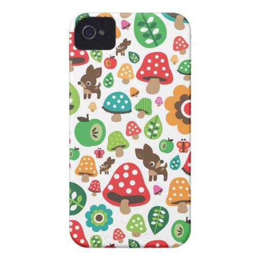 Cute kids pattern with flower leaf deer mushroom blackberry bold covers
