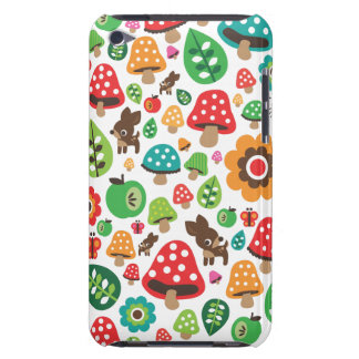 Cute kids pattern with flower leaf deer mushroom iPod touch case