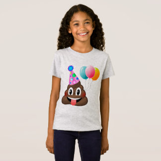 Cute Kids Poop Emoji Birthday T-Shirt
