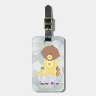 Cute Kids Watercolor Tag Customize Name Contact