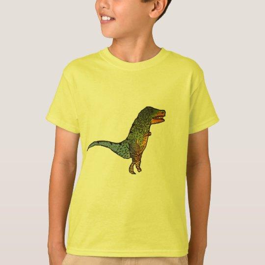 Cute kids yellow T-Rex dinosaur art T-Shirt