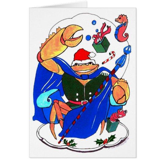 Cute King Crab Alaska Wildlife Christmas Card