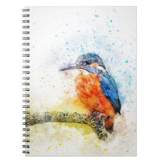 Cute Kingfisher Design Notebook