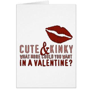 Cute & Kinky Valentine Lips Card