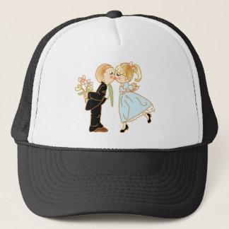 Cute Kissing Couple Trucker Hat